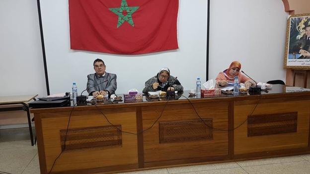 مناقشة رسالة في موضوع حماية حقوق الاجراء الاجانب بالمغرب  تحت إشراف الدكتورة دنيا مباركة تقدمت بها الباحثة مزوغ خديجة