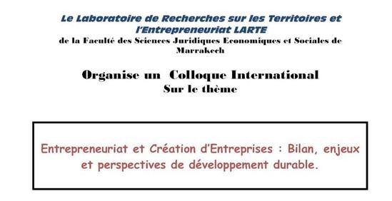 Colloque International Sur le thème Entrepreneuriat et Création d'Entreprises
