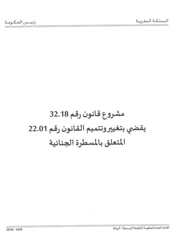 نسخة كاملة من مشروع قانون لزجر الاستيلاء على عقارات الغير المصادق عليه بتاريخ 28 ماي 2019
