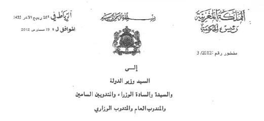 منشور رئيس الحكومة حول حكامة المؤسسات و النشآت العامة