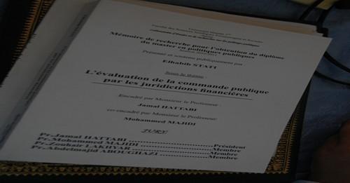 Rapport du Mémoire de recherche Sous le thème : L'évaluation de la commande publique par les juridictions financières