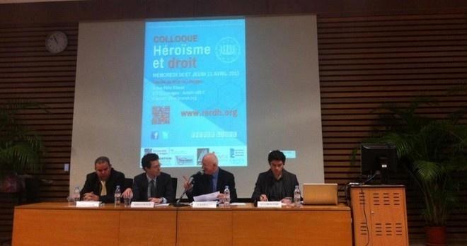 مشاركة مغربية في الندوة العلمية التي نظمتها مؤخرا جامعة ليموج بفرنسا بتنسيق مع الشبكة الأوربية لحقوق الانسان حول موضوع  الشجاعة في قول الحق