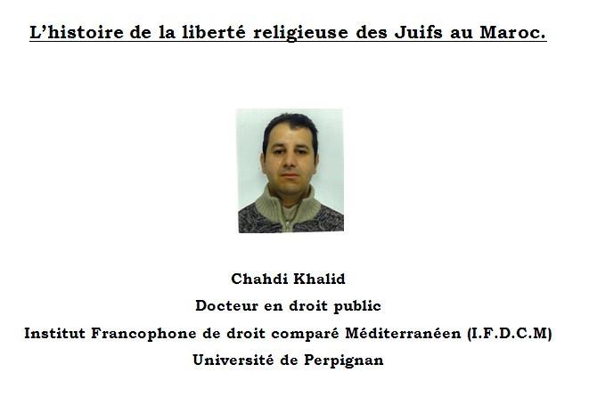 l'histoire de la liberté religieuse des Juifs au Maroc