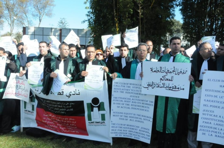 تضامن وطني و دولي مع نادي قضاة المغرب على إثر قرار منع وقفة 8 فبراير 2014