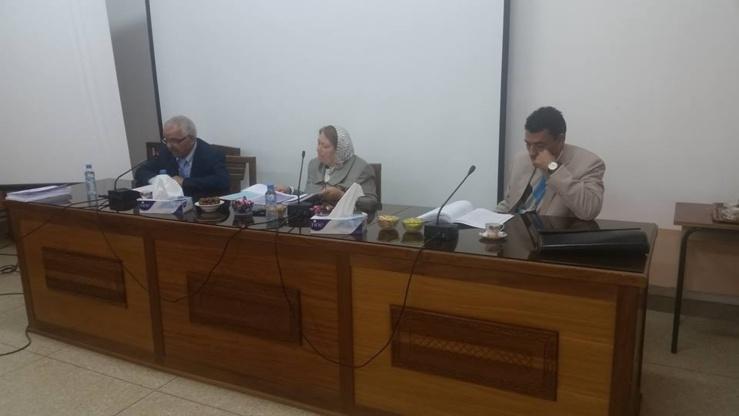 مناقشة رسالة في موضوع دور التمويل البنكي في السكن الاجتماعي تحت إشراف الدكتورة دنيا مباركة  تقدم بها الباحث محمد اليعقوبي