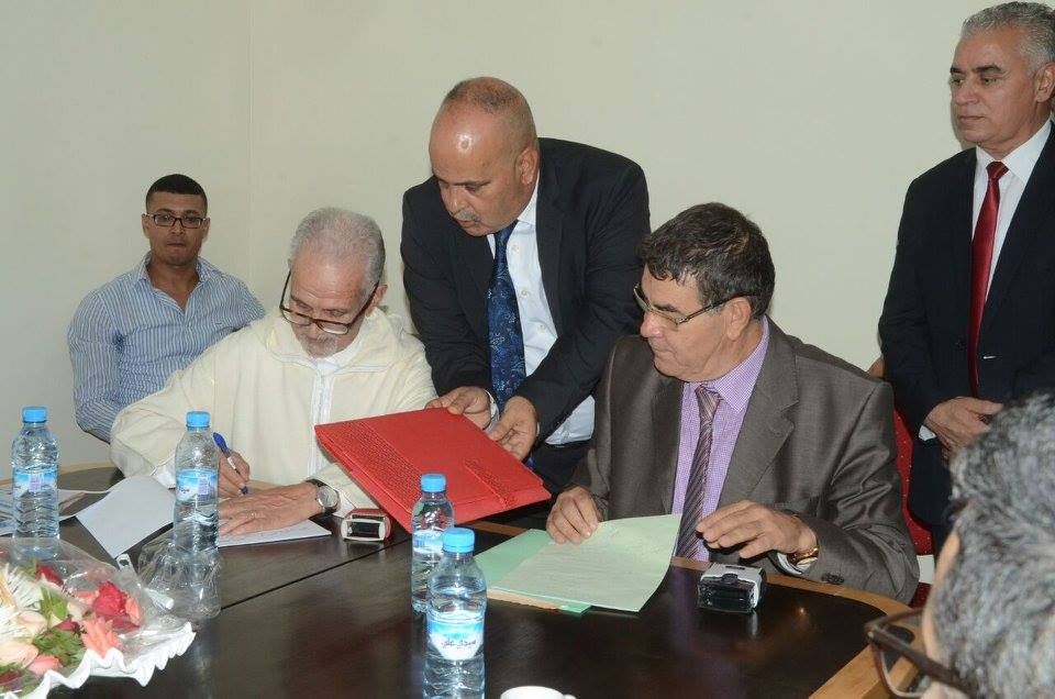 توقيع اتفاقية شراكة بين المجلس الجهوي لعدول استئنافية وجدة وماستر قانون العقود والعقار بكلية العلوم القانونية والاقتصادية والاجتماعية وجدة