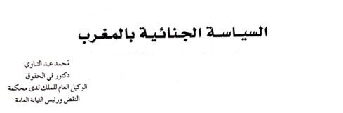 رئيس النيابة العامة د عبد النباوي يكتب عن السياسة الجنائية بالمغرب - نسخة كاملة من البحث