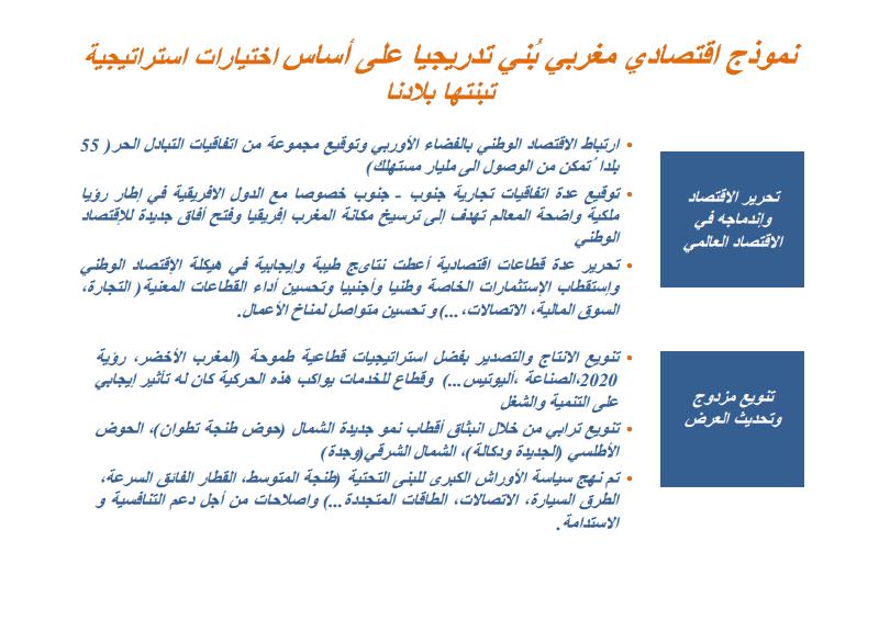 المغرب، نموذج متجدد للتنمية الاقتصادية ـ عرض و تقديم السيد محمد بوسعيد وزير الاقتصاد و المالية