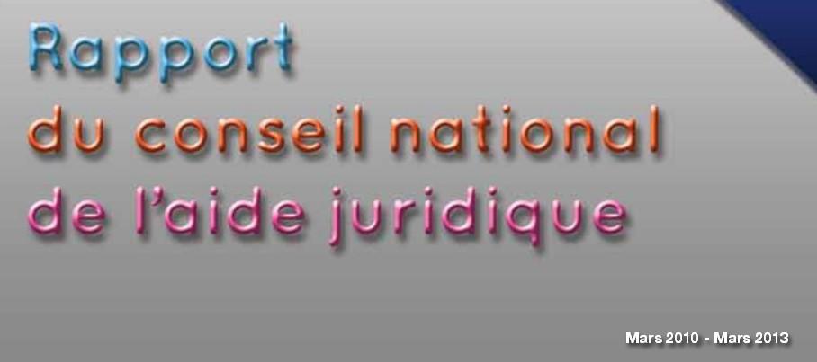 La Justice en France: Rapport du conseil national de l'aide juridique