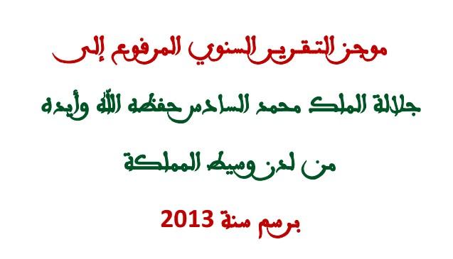 موجز تقرير مؤسسة الوسيط لسنة 2013