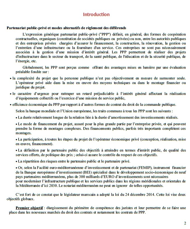 ينظم المنتدى المغربي للوسائل البديلة لحل المنازعات  يوم تكويني بشراكة مع مكتب الدراسات و التكوين الفرنسي أوسمان حول موضوع عقود الشراكة بين القطاع العام و الخاص و الوسائل البديلة لحل المنازعات