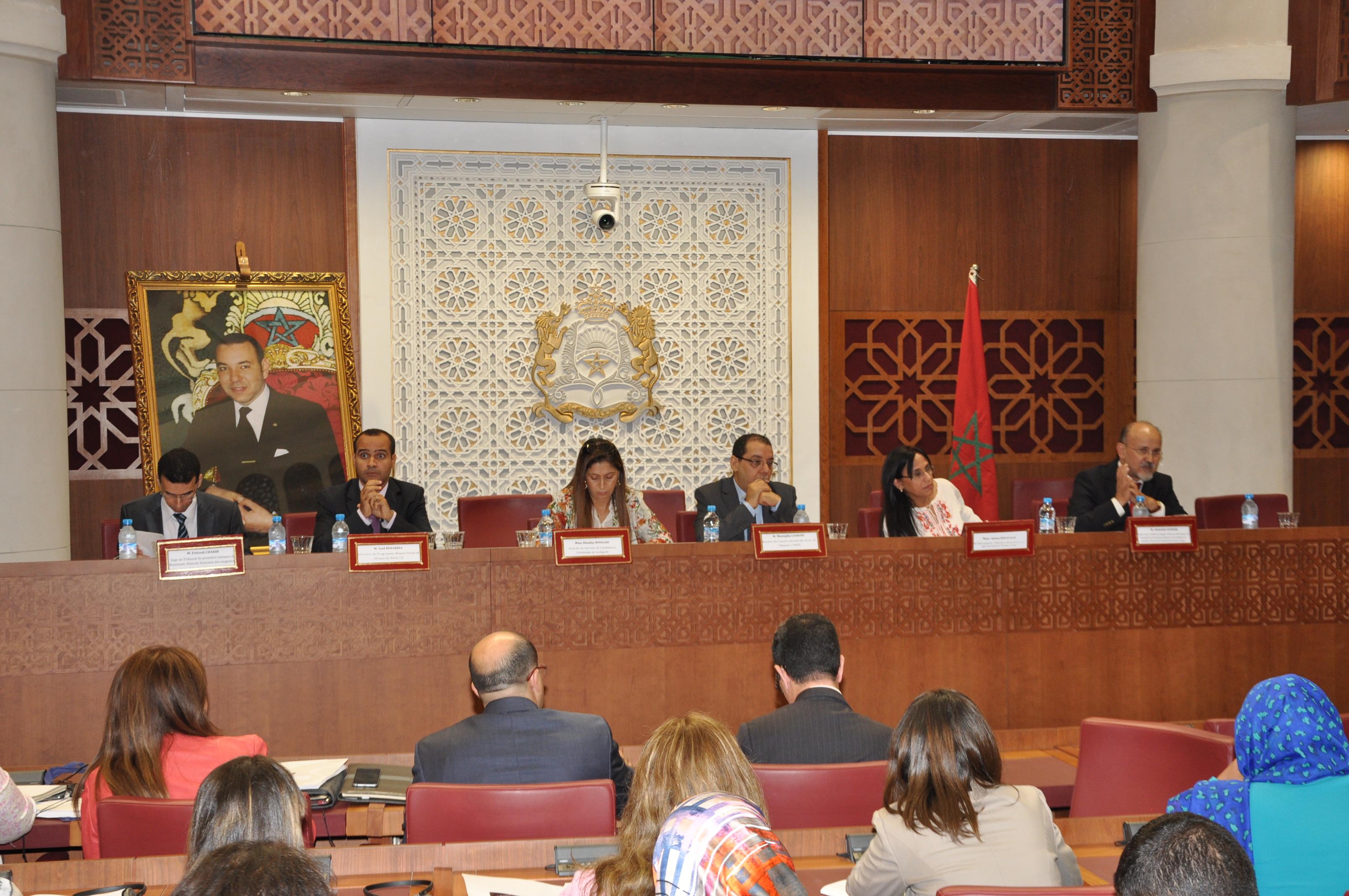 تقرير أولي حول أشغال الجلسة العامة الأولى لندوة المجلس الوطني لحقوق الإنسان حول القانون الجنائي والمسطرة الجنائية رهانات وإصلاح بمقر مجلس النواب