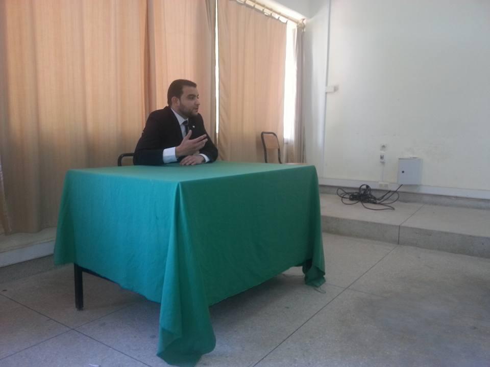 مناقشة رسالة في موضوع المسؤولية المدنية لناظر الأوقاف تحت إشراف الدكتور الحسين بلحساني تقدم بها الباحث حسام أقضاوي