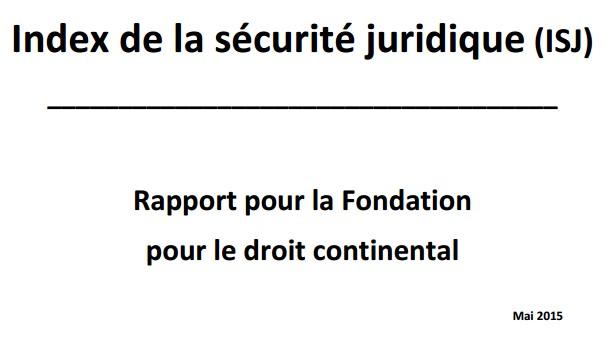 نسخة كاملة من تقرير مؤسسة القانون القاري بفرنسا الخاص بمؤشر الأمن القانوني ببلدان العالم، والذي إعتمده السيد وزير العدل والحريات للجواب على سؤال حول الأمن القانوني بالمغرب خلال جلسة الأسئلة الشفهية الأسبوعية الأربعاء 4 ماي 2016.