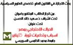 الحراك الاحتجاجي بمصر – الأسباب والتداعيات
