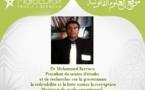 Le contrôle financier des associations  et leconcept de la légitimitéréciproque -Note en marge du dialogue national sur la société civile-  Par : Dr Mohammed Berraou
